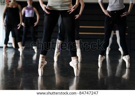 ballet dancers - stock photo