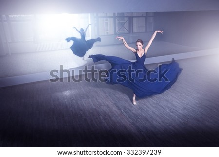Ballet in the city - stock photo