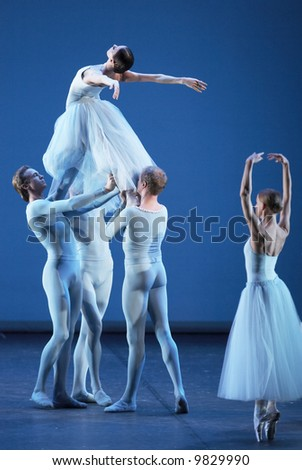 Ballet of Mariinsky Theatre from St. Petersburg (Russia) in Bolshoi Theatre in Moscow.