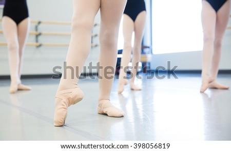 ballet shoes - stock photo