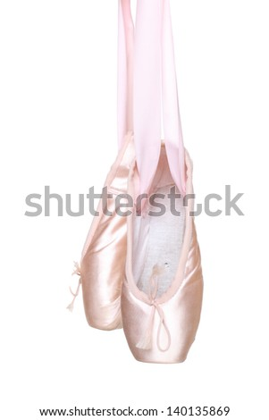 Ballet shoes pointes isolated