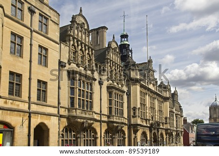 Balliol college in Oxford Broad Street in the UK