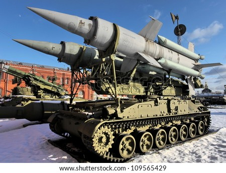 ballistic missile - stock photo