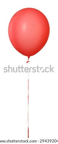 Ballon, balloon, red. - stock photo