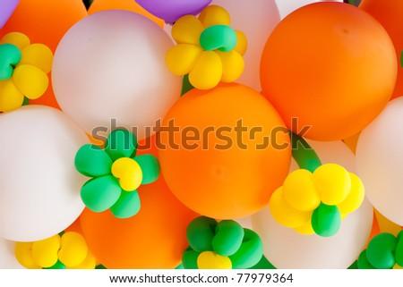 ballon colorful. see it fun colorful . ballon is fun only chaildren. - stock photo