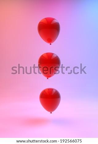 Ballons in Rainbow Studio Render - stock photo