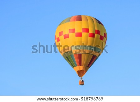 Balloon and blue sky in the morning.
