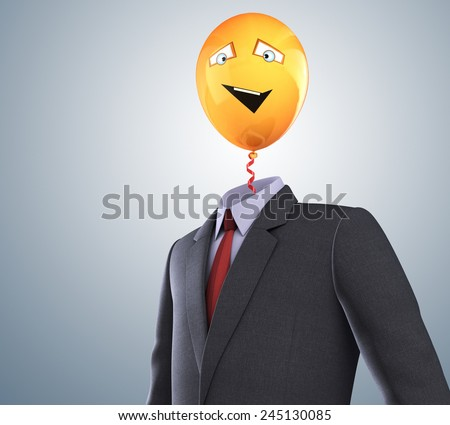 Balloon and business suit - stock photo