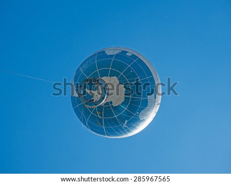 balloon as a globe - stock photo