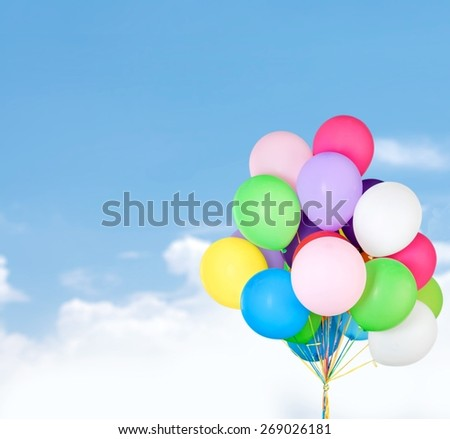 Balloon, background, isolated. - stock photo