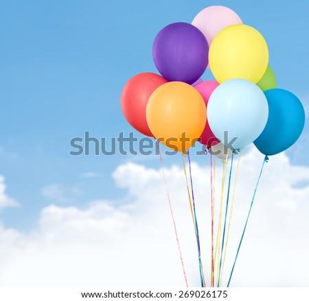 Balloon, Celebration, Anniversary. - stock photo