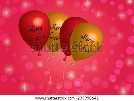 Balloon 3D  red yellow - illustration - stock photo
