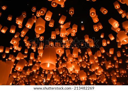 balloon fire/ north Thailand / chiangmai
