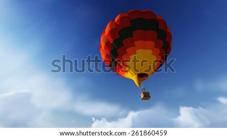 balloon flight - stock photo