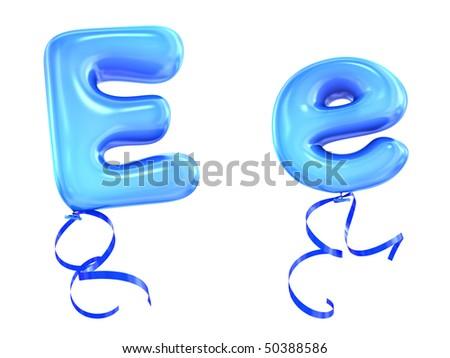 Balloon font - stock photo