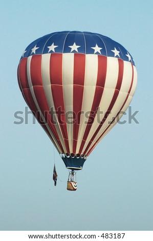 balloon four - stock photo