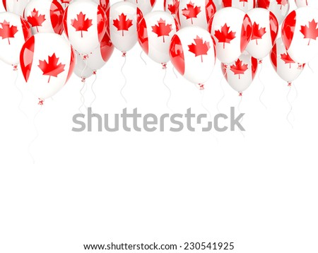 Balloon frame with flag of canada isolated on white - stock photo