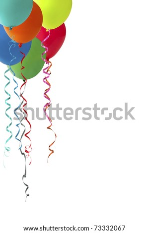 balloon frmae idea isolated on a white background - stock photo