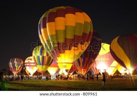 Balloon Glow - stock photo