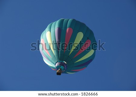 Balloon in flight, Reno, Nevada - stock photo