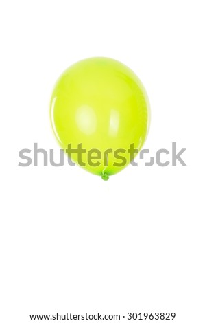 balloon isolated in white background - stock photo