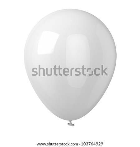 Balloon isolated on white background. - stock photo
