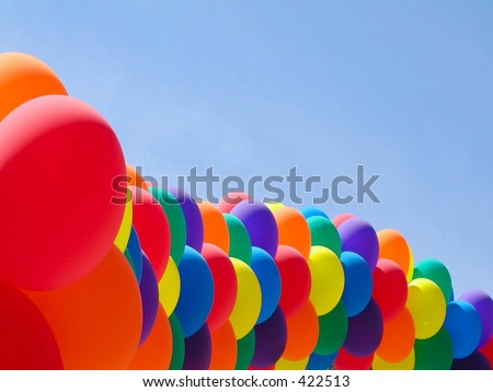 Balloon Line - stock photo