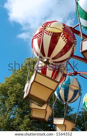 Balloon ride, Amusement park attraction - stock photo