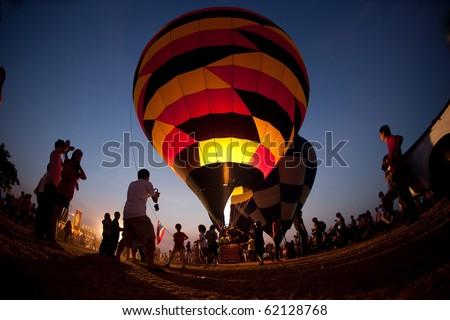 balloon twilight - stock photo