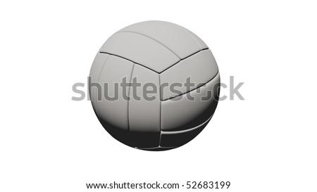 balloon volleyball - stock photo