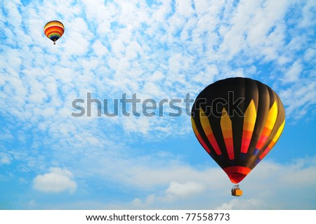 Balloon with blue sky - stock photo