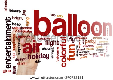 Balloon word cloud concept - stock photo