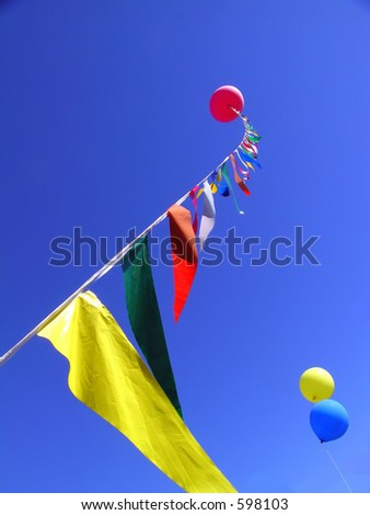 Balloons and Pennants - stock photo