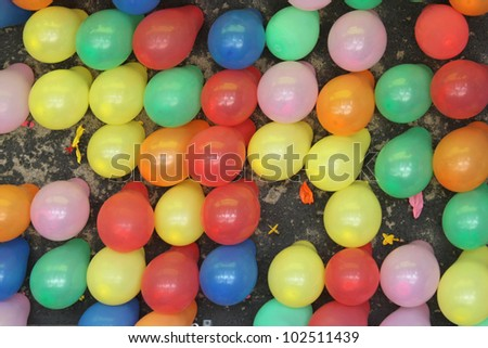 Balloons at the fair - stock photo