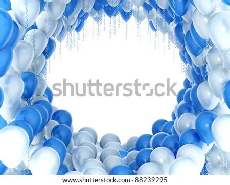 Balloons celebration background - stock photo