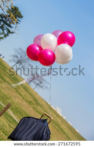 balloons flying in the sky - stock photo