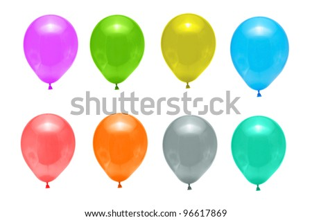 balloons for  decoration holiday - stock photo