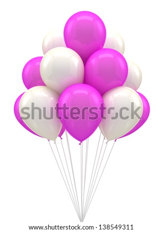 Balloons for party, birthday, colorful, color - stock photo