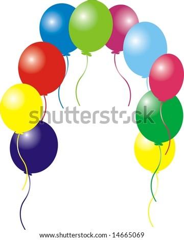 Balloons frame - stock photo