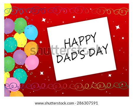 Balloons - Happy Dad's Day - stock photo
