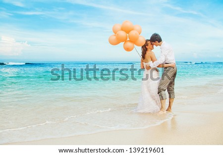 balloons in bali - stock photo