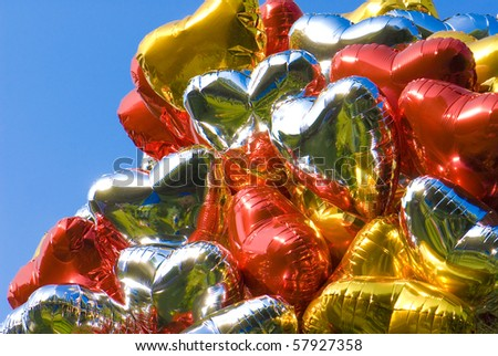 balloons in the form of heart - stock photo