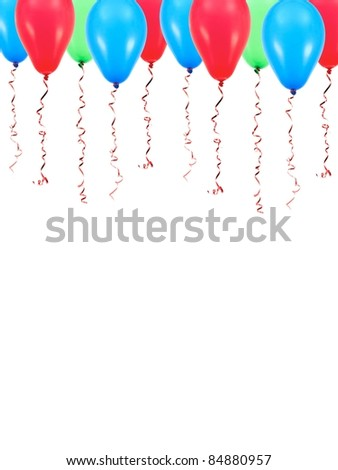 Balloons isolated against a white background - stock photo