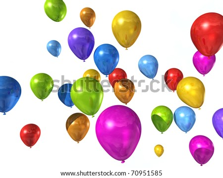 balloons isolated on a white background - stock photo