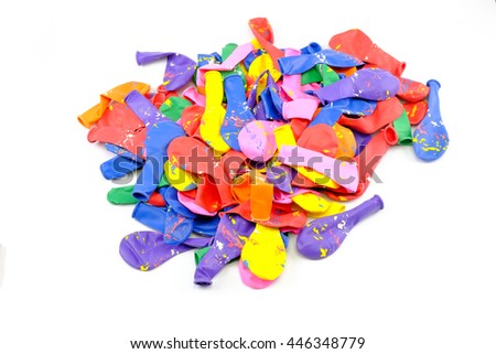 Balloons of many colours in a large pile