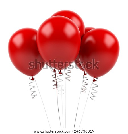 Balloons on a white background - stock photo