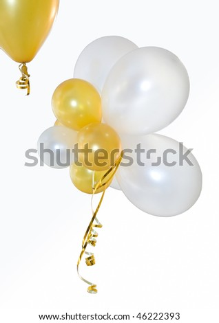 Balloons on a white background. Are isolated - stock photo