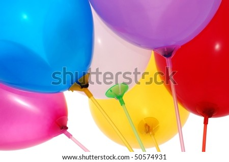 Balloons on White - stock photo