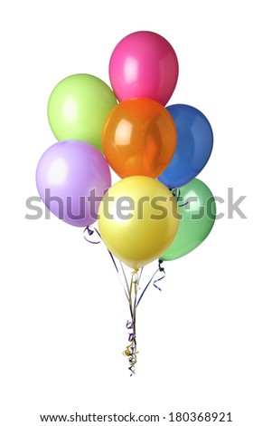 Balloons on white background