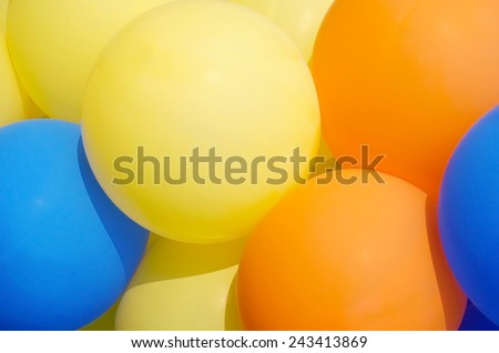 Balloons showing splendid colors - stock photo